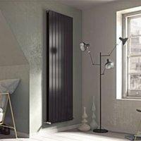 Ximax Vertirad Duplex Universal Vertical/horizontal Designer radiator Anthracite (H)1500 mm (W)445 mm