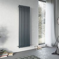 Ximax Vulkan Vertical Designer radiator Anthracite (H)1500 mm (W)585 mm