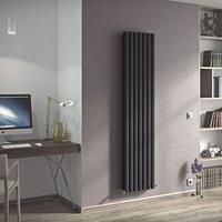 Ximax Champion Duplex Vertical Designer radiator Anthracite (H)1800 mm (W)294 mm