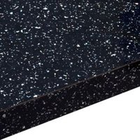 38mm Astral Black Gloss Square edge Laminate Breakfast bar (L)2m (D)900mm