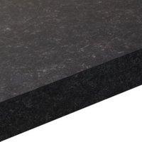 38mm Lima Black Matt Granite effect Square edge Laminate Worktop (L)3m (D)600mm