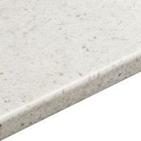 38mm Cashmere White Round edge Laminate Breakfast bar (L)3m (D)665mm