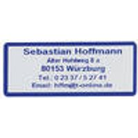 Address labels, blue font, with border, self-adhesive, 300 pieces Westfalia