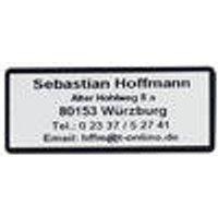 Address labels, black font, with border, self-adhesive, 1000 pcs