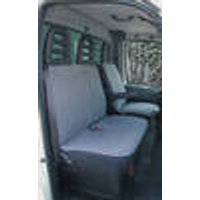 Seat cover for transporters and vans, grey, 2 pieces