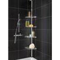 Telescopic shower corner shelf, stainless steel Westfalia