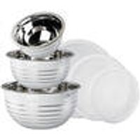 Stainless Steel Bowl Set, 6 piece, with lids