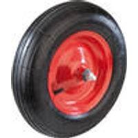 Wheelbarrow wheel with axle, 20 mm bore, 12 mm thread Westfalia