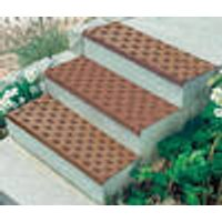 Rubber tread and riser mats, brown or black, 75 x 25 cm Westfalia