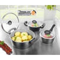 Ceramica Plus Pot and pan set, 8 pieces