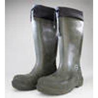 Rubber boots, dark green, size 7