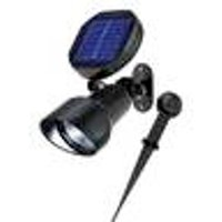 Solar LED Spotlight, Wall Mount and Ground Spike Esotec