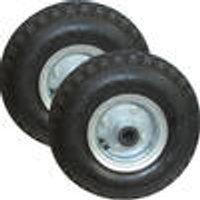 Wheelbarrow wheel with steel rim, 2 pieces