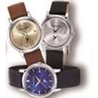 Special edition! Quartz wristwatch with date and leather strap Messerschmitt