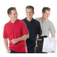 Men's polo shirt with zipper, colour red, size M