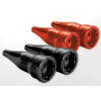 Solid rubber couplings, 2 poles, with earthing contact, 2 pieces Weing ¤rtner