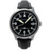 ME 108-42S Pilot s watch with date and black leather strap Messerschmitt