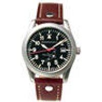 ME 163-40 Pilot watch with date display and brown leather strap Messerschmitt