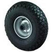 Wheelbarrow wheel with steel rim