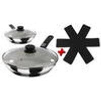 Stainless steel, ceramic coated pans Bratmaxx