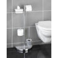 WC Storage centre with silicone toilet brush, 34 x 18 x 84.5 cm Wenko