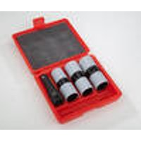 Impact wrench socket wrench set, 1/2, 4 pieces