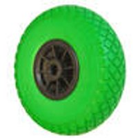 Wheelbarrow wheel, breakdown free, green