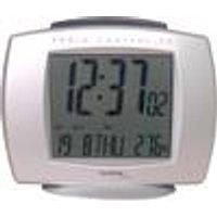 Radio alarm clock with date, calendar and internal temperature display, silver Techno Line