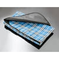 Car Blanket, blue check, 150 x 130 cm Walser