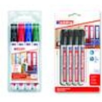 Permanent Marker, 4 pieces: 1 x each black, red, blue, green Edding