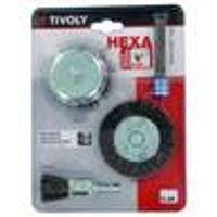 Metal Brush Set, 4-Pieces, Hex Shank SDS, SDS+ Adapter Tivoly