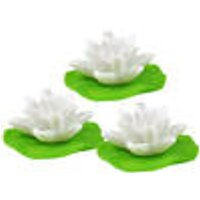 LED water lilies, Set of 3