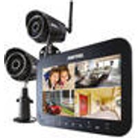 HS1002 Wireless Outdoor CCTV System, with 2 Cameras and 7-Inch Monitor Switel
