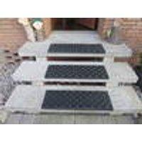 Rubber tread and riser mats, brown or black, 75 x 25 cm Westfalia
