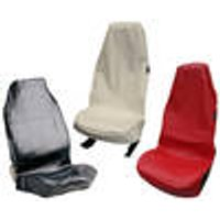 Workshop seat cover, synthetic leather, black