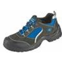 Work and safety shoes, S1, grey/blue in various sizes