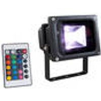 LED Floodlight, colour change function and remote control, 10 W / IP65 Wetelux