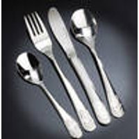 Childrens cutlery set, 4 pieces, with engraving