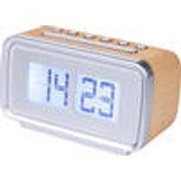 Retro clock radio with flip digits