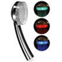 Massage shower head with color change
