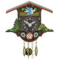 Black Forest wind-up wall clock with pendulum clock