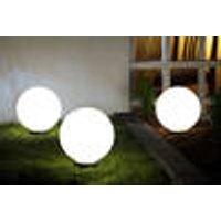 LED Decorative Stones, warm white, ˜ 20cm, IP44, 3-Pieces