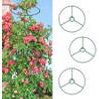 Climbing plant support rings, set of 3