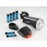 Bicycle light set, front & rear, 10-piece Prophete