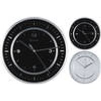 Wall clock, white, diameter 35 cm, with aluminum frame