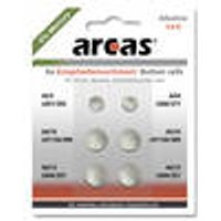 Alkaline Button Cell Set, 0% HG, 6-Pieces Arcas