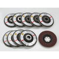 10 Lamella Grinding Discs 115 mm, 2 of each K40/K60/K80/K100/K120 Westfalia