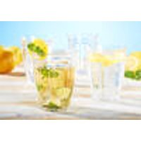 Shatter-proof drinking glasses, set of 14