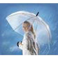 Umbrella, transparent, extra large canopy