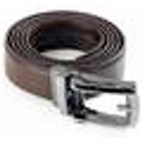 Automatic click belt, leather, brown